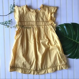 Old navy yellow blouse ruffle top